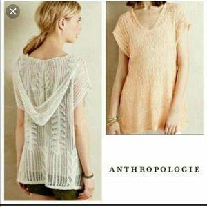 Anthropologie Moth Loose Crochet Knit Sweater XS